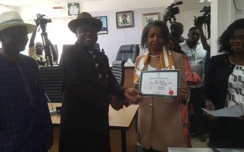INEC Presents Certificate Of Return To Douye, NAIJAPARRY