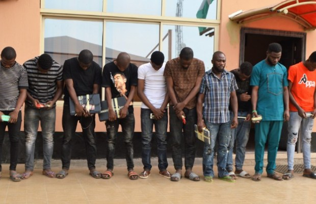 EFCC Arrests 15 'Yahoo Boys', Recovers POS Machine, Exotic Cars In Ibadan, NAIJAPARRY