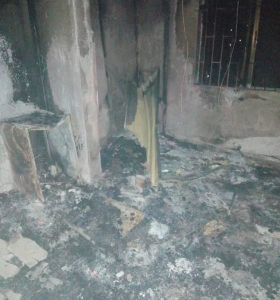 Panic, As DELSU Hostel Goes Up In Flame, NAIJAPARRY