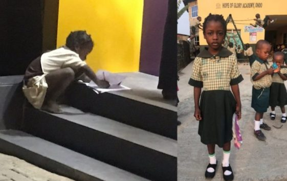 FCMB Gifts Little Girl N1million, Awards Her Scholarship For Using ATM Light To Write Her Assignment, NAIJAPARRY