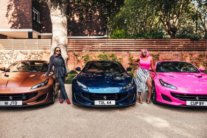 DJ Cuppy,Otedola, DJ Cuppy Flaunts Three Ferrari Cars Her Billionaire Father Got Her And Her Sisters As He Took Them Shopping, NAIJAPARRY