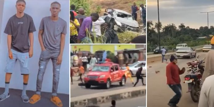 yahoo boys,osogbo,osogbo accident,sars, Photos, video of yahoo boys chased to death in Osogbo by Joint Task Force, NAIJAPARRY